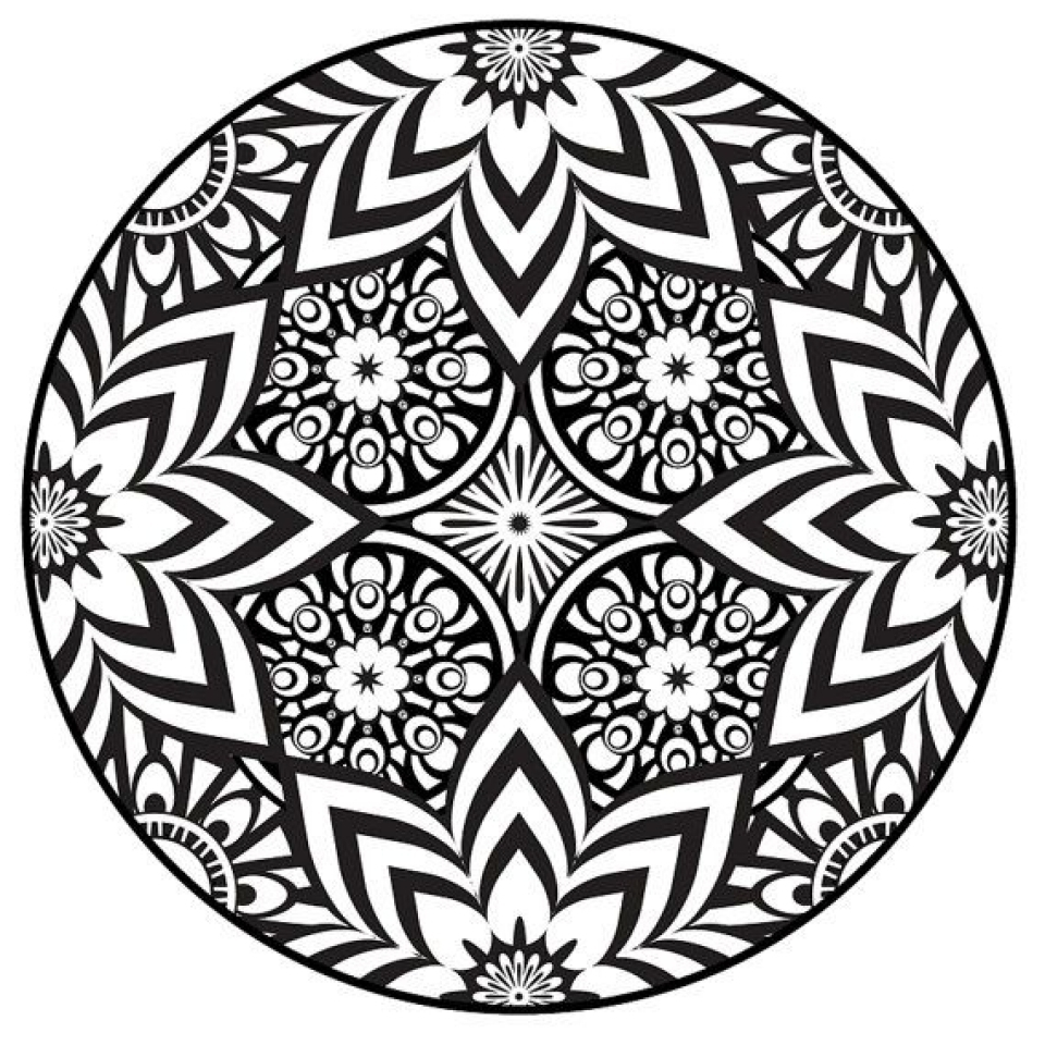 wolf coloring pages printable - free mandala coloring pages for adults to print