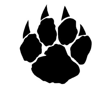 wolf coloring pages printable - lion paw print