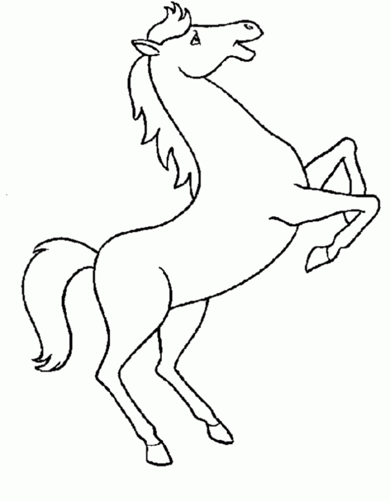 wolf coloring pages - horse drawing for kids colour drawing free wallpaper horse for kid coloring drawing free