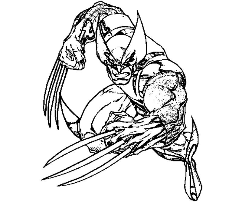 wolverine coloring pages - 12 wolverine coloring page