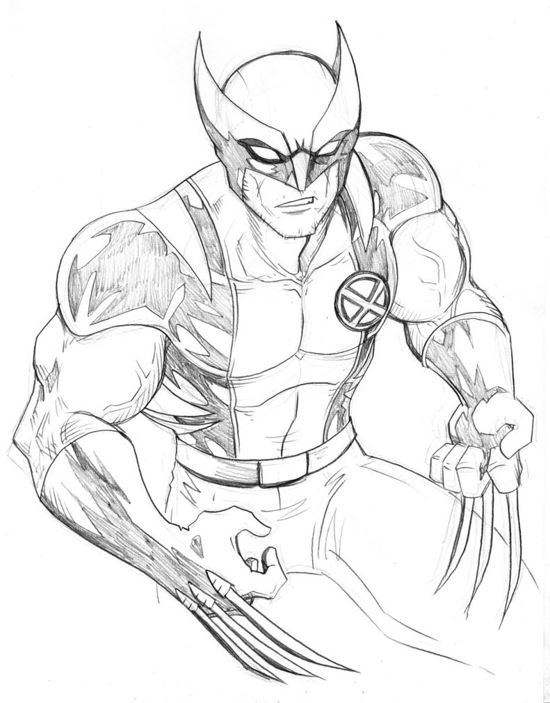 wolverine coloring pages - wolverine coloring pages
