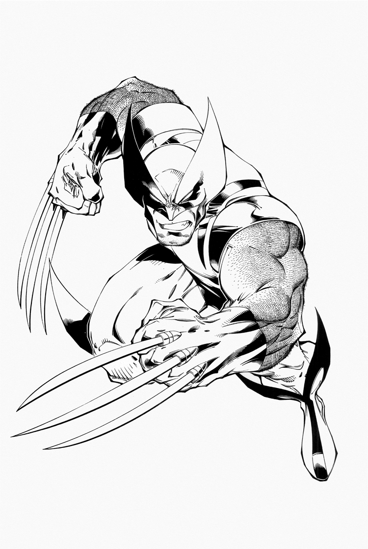 wolverine coloring pages wolverine coloring pages - Wolverine Coloring Pages Free