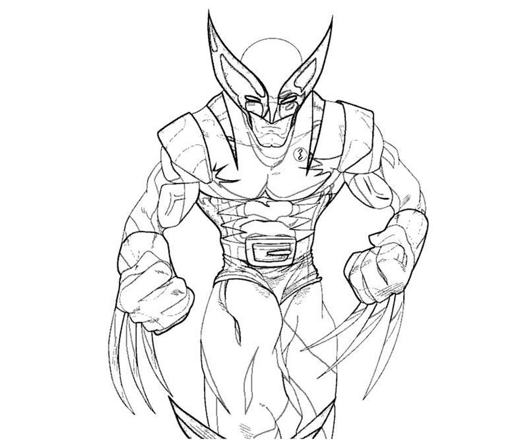 wolverine coloring pages - printable wolverine coloring pages
