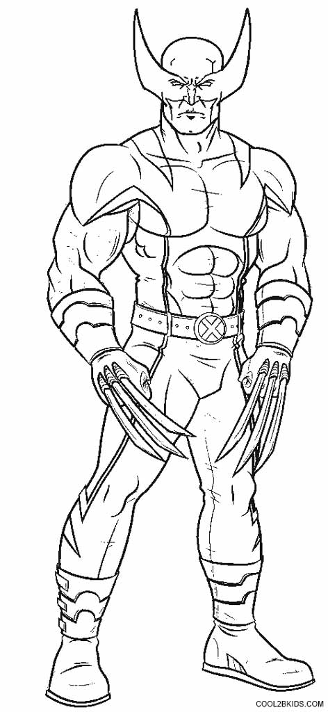 wolverine coloring pages -