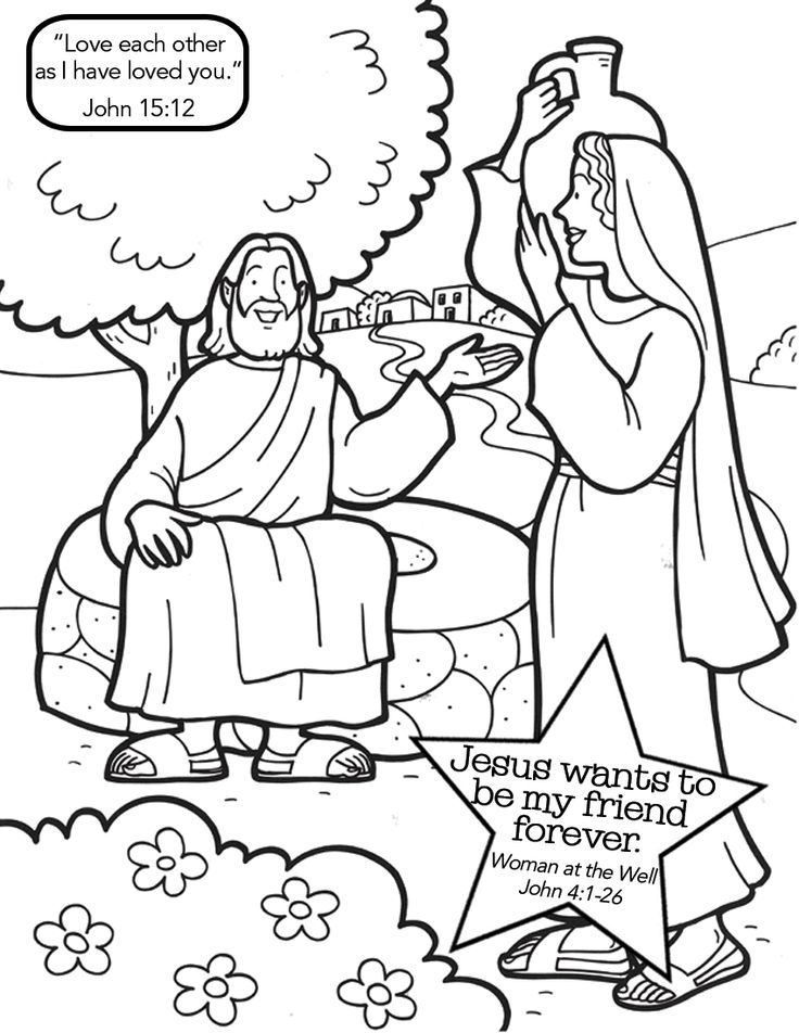 21 Woman at the Well Coloring Page Collections | FREE COLORING PAGES ...