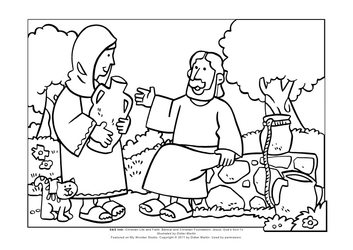 woman at the well coloring page - mws l1 coloring pagejesus and the woman at the well