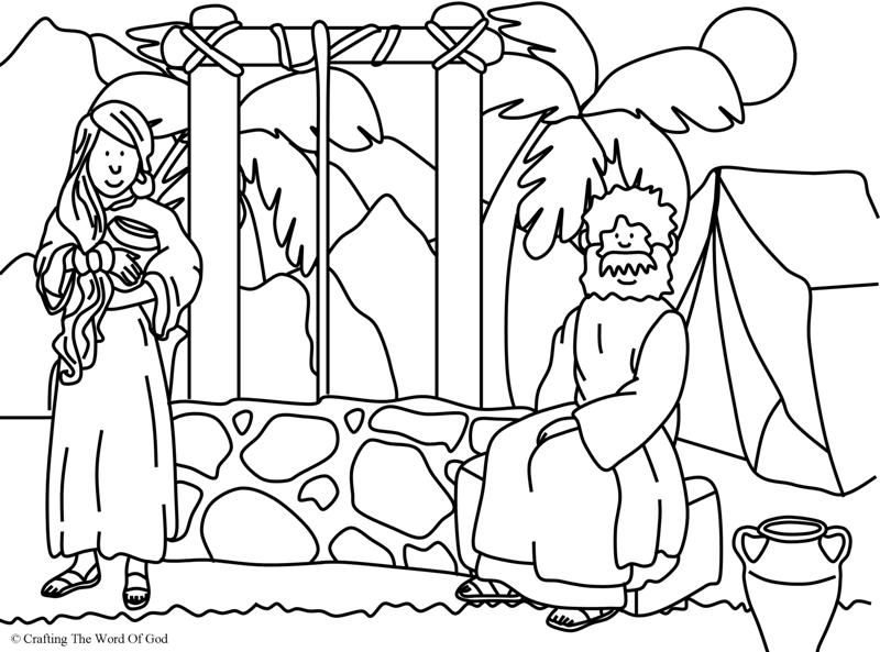 woman at the well coloring page - woman at the well coloring page