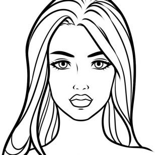 woman coloring page - beautiful gothic woman coloring pages sketch templates