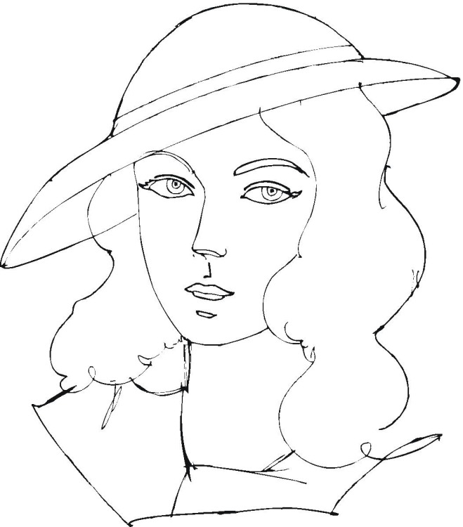 Woman Coloring Page - Free Images Of Woman Coloring Pages