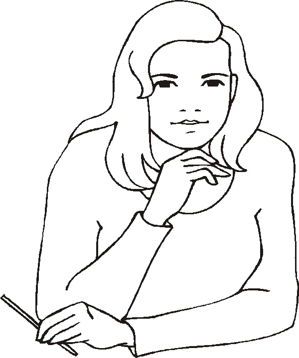 woman coloring page - woman4tml