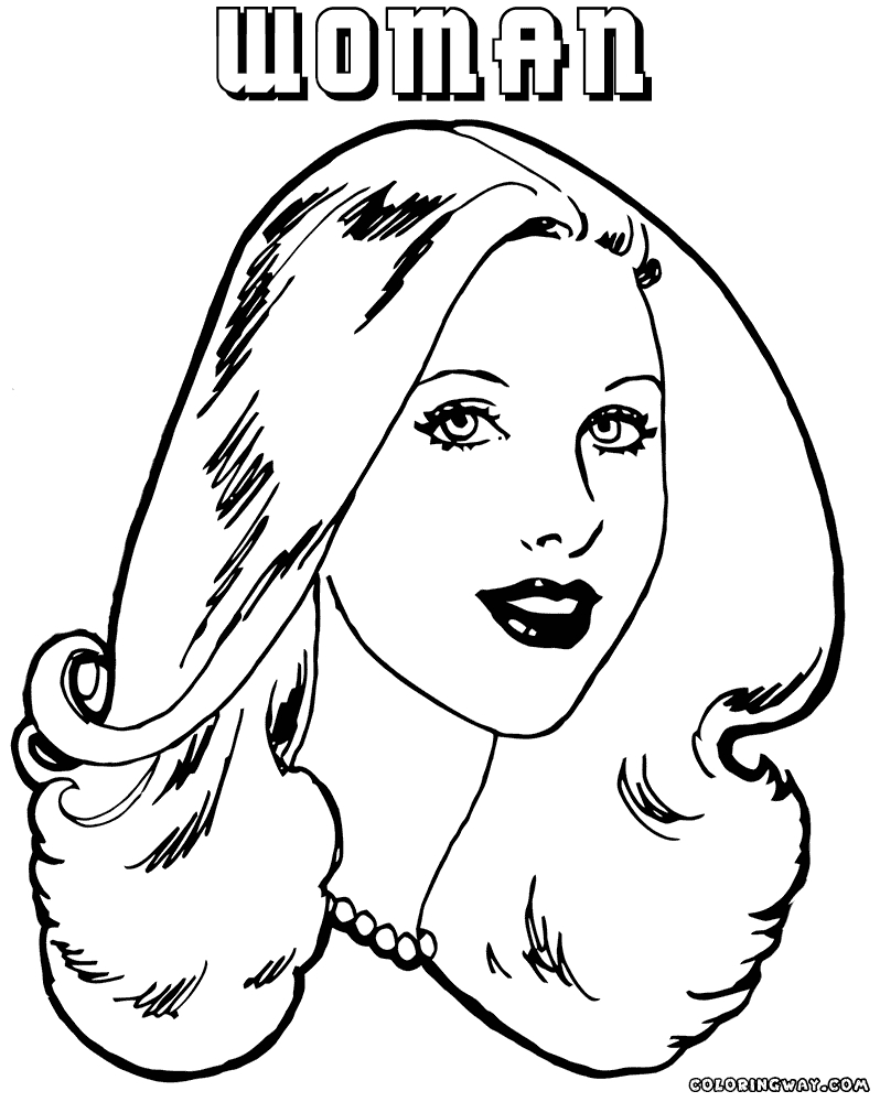 woman coloring page - woman coloring pages