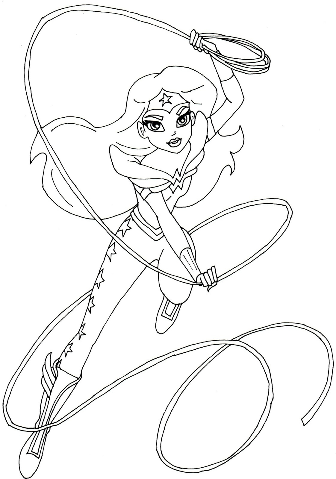 wonder woman coloring pages - wonder woman super hero high coloring 4