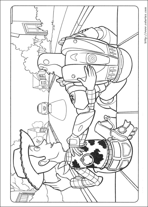 woody coloring pages - coloriage des passagers clandestins