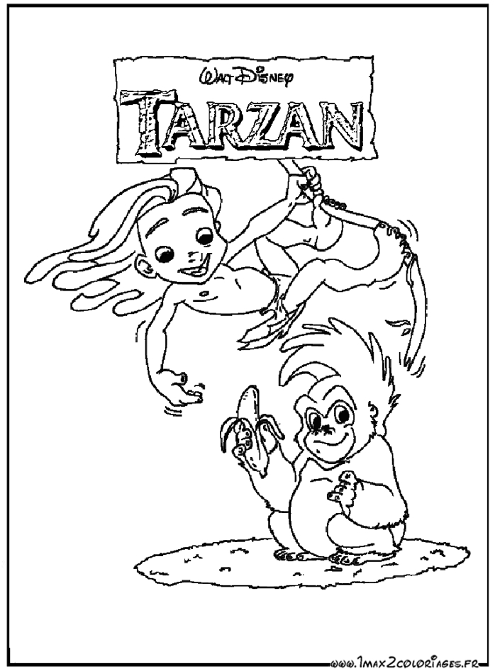 woody coloring pages - coloriage affiche tarzan
