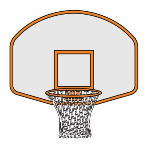 word coloring pages - basketball hoop clipart