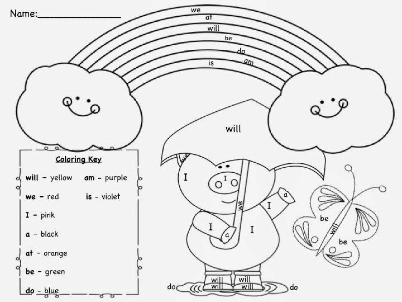 Word Coloring Pages - Sight Word Coloring Pages Coloringsuite