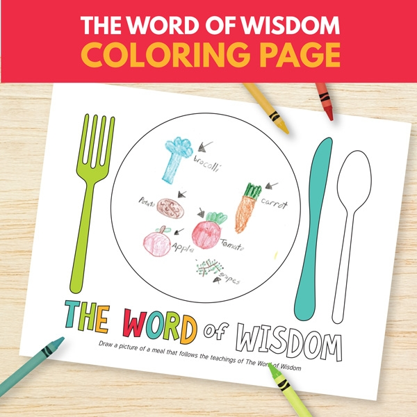 word of wisdom coloring page - choose right b lesson 14 word wisdom