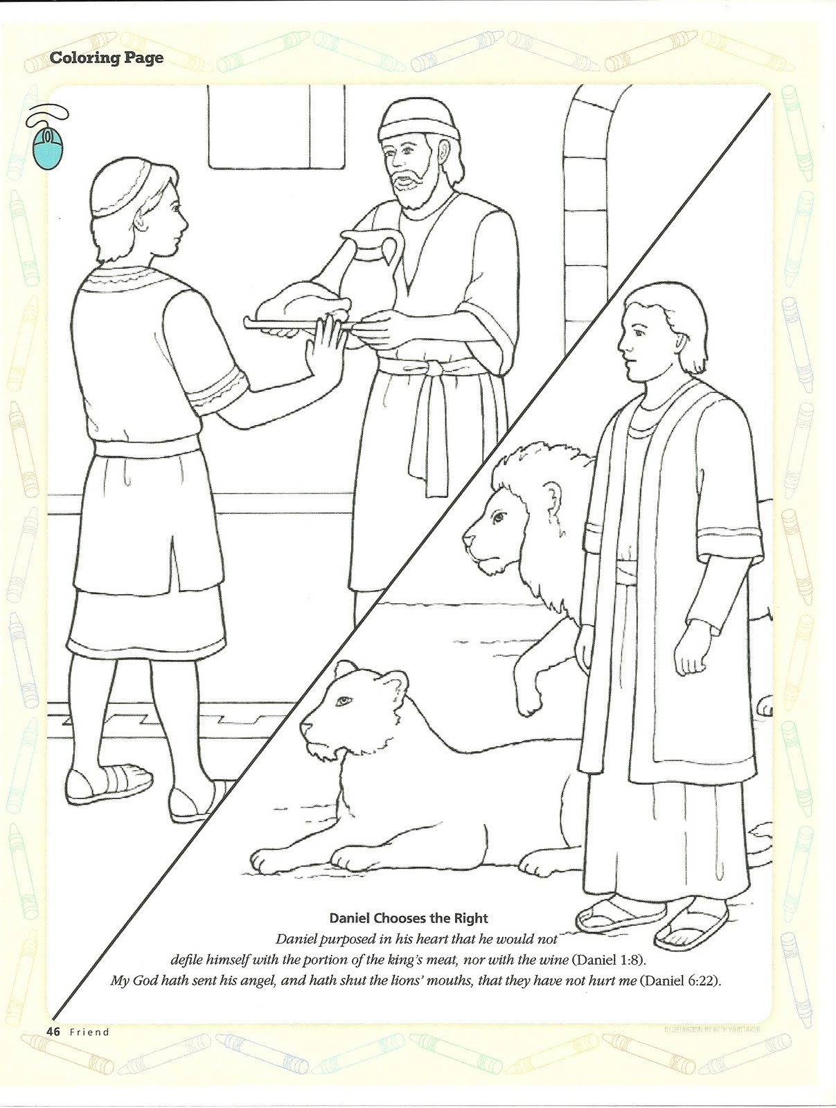 word of wisdom coloring page - primary 3 lesson 14