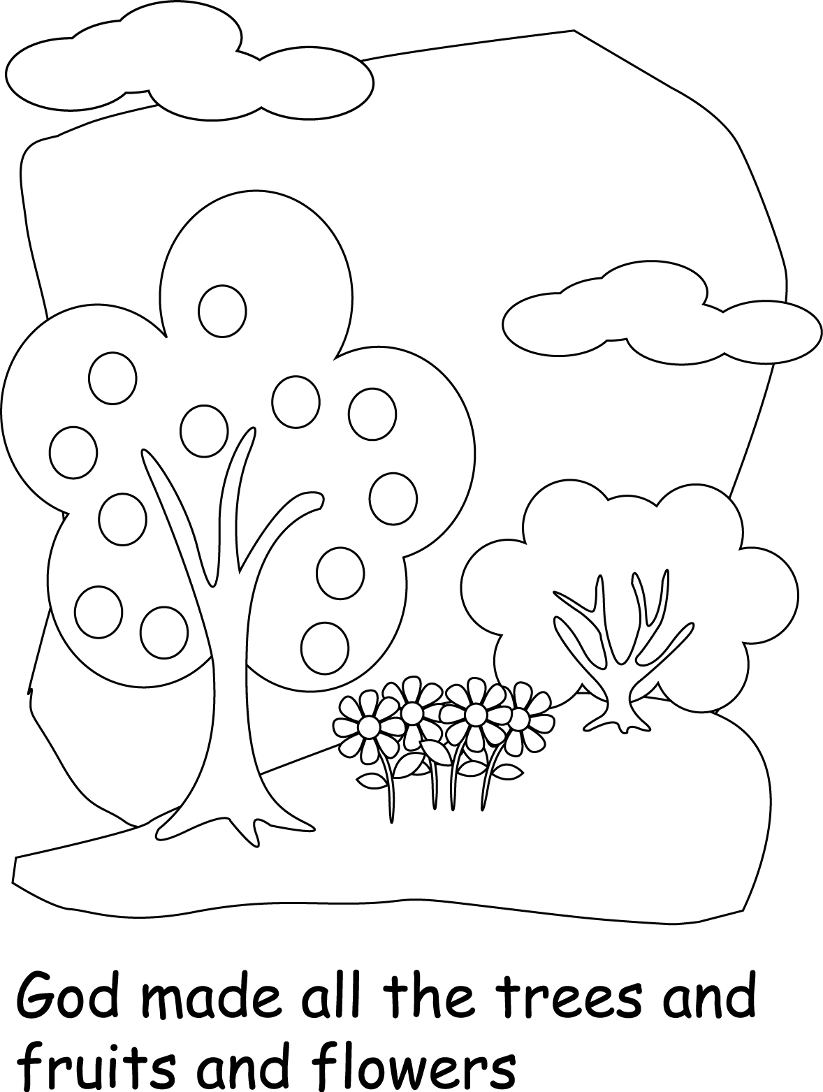 world coloring pages - god created the earth coloring pages