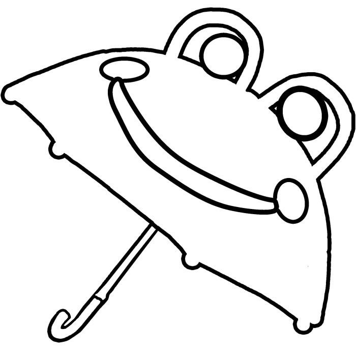 world coloring pages - umbrella pictures to color