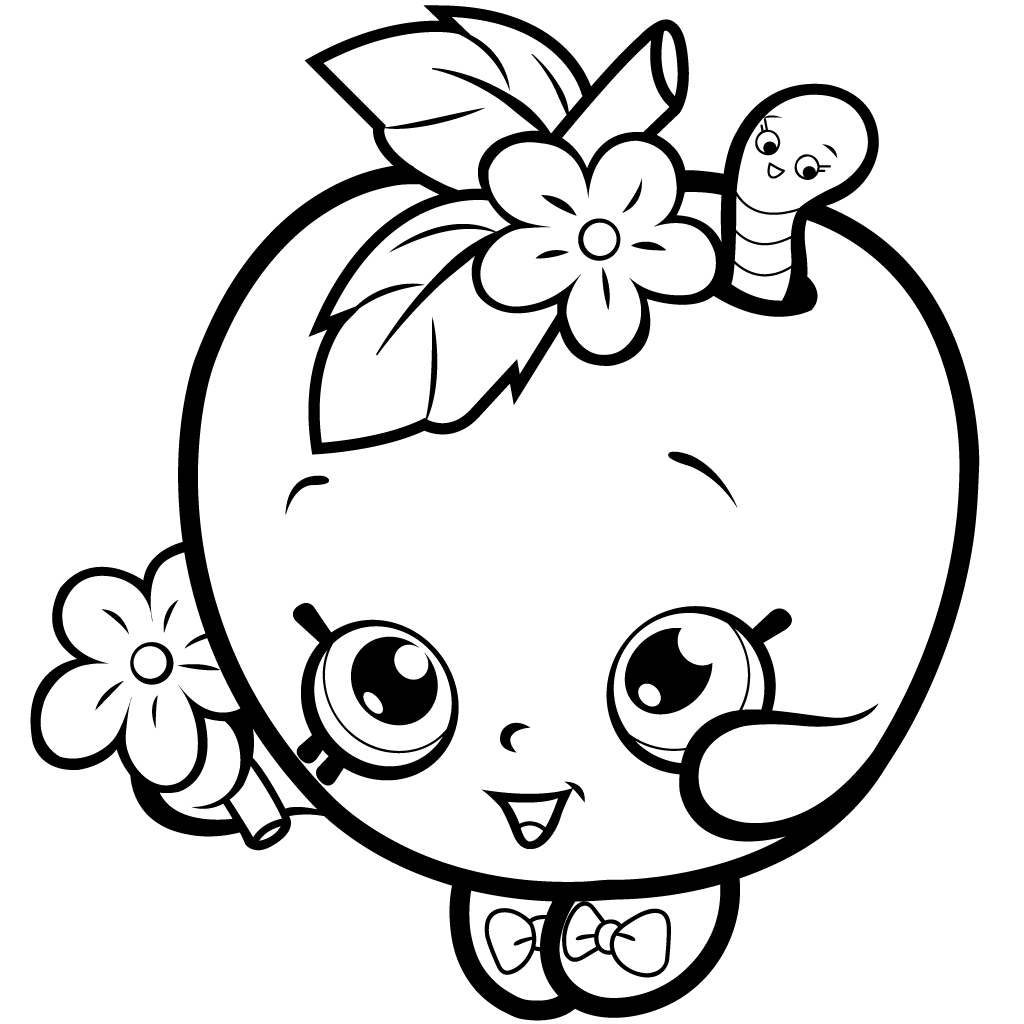 worm coloring pages - shopkins coloring pages