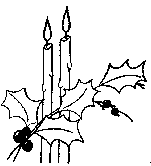 wreath coloring page - advent candle clip art