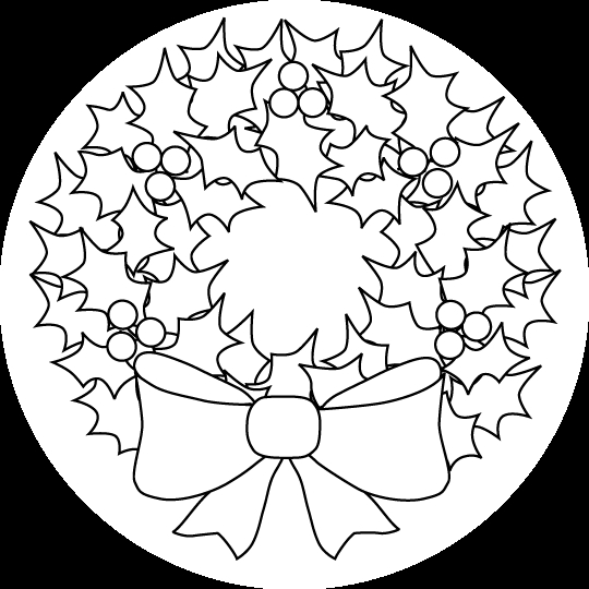 wreath coloring page - christmas wreath coloring pages wreath