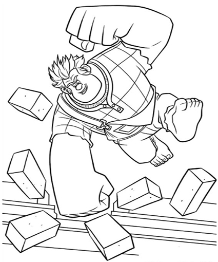 wreck it ralph coloring pages - disney wreck it ralph coloring pages