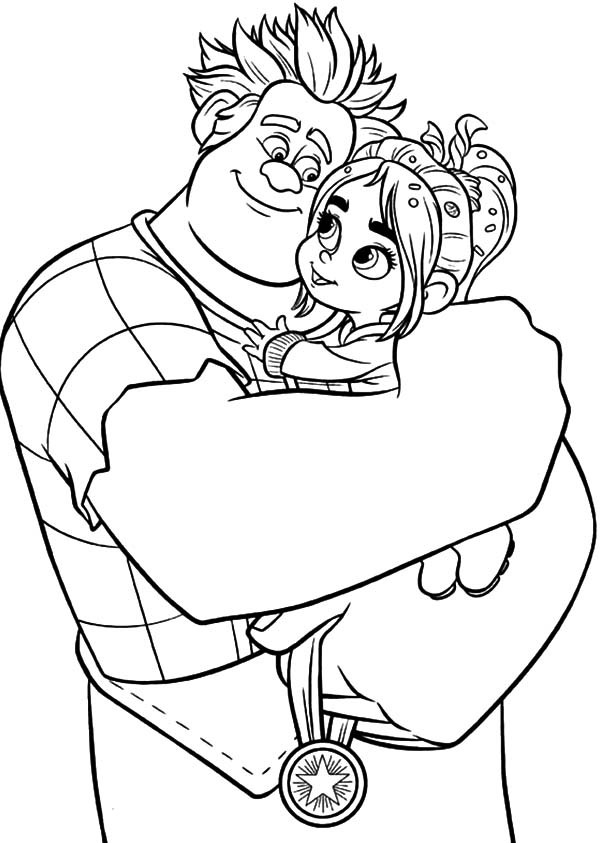 wreck it ralph coloring pages - wreck ralph coloring pages