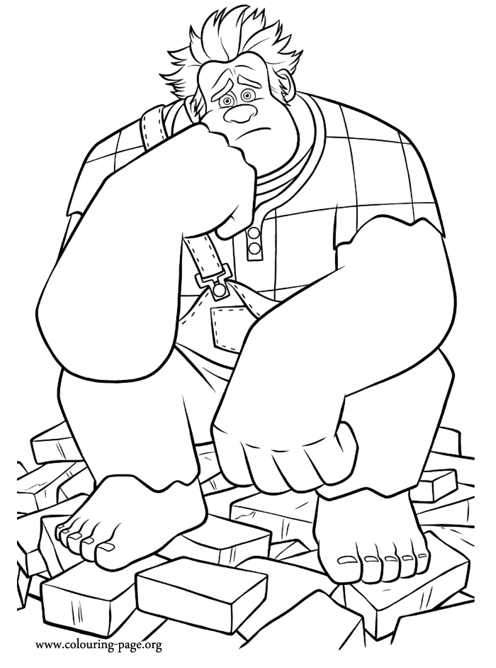 wreck it ralph coloring pages - 578 disneys wreck it ralph coloring page