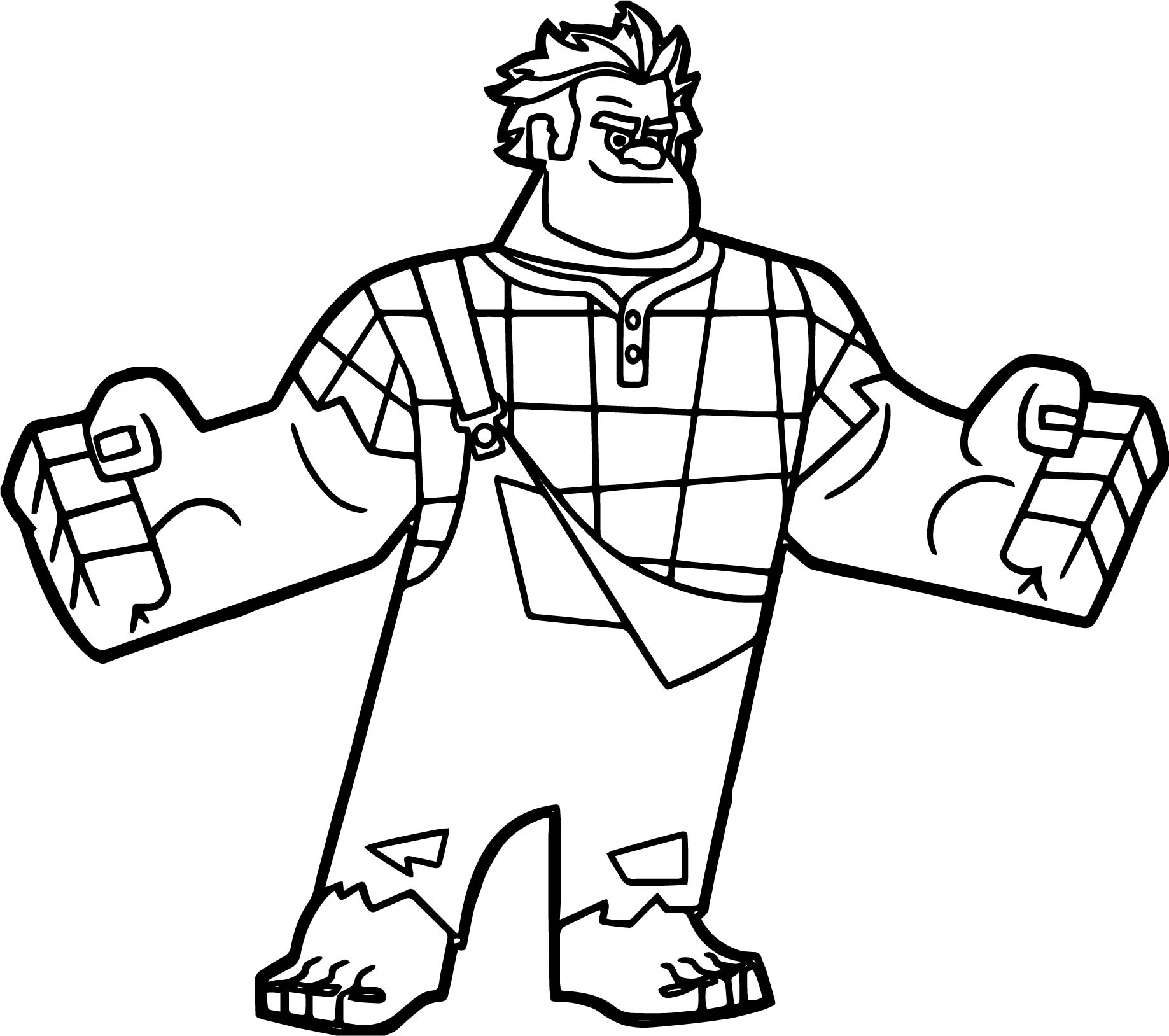wreck it ralph coloring pages - wreck ralph coloring page