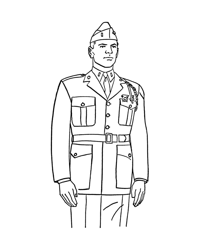 ww2 coloring pages - army sol r coloring page