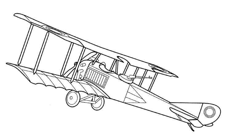 ww2 coloring pages - avion retro
