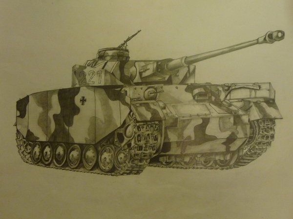 ww2 coloring pages - WW2 Panzer Tank