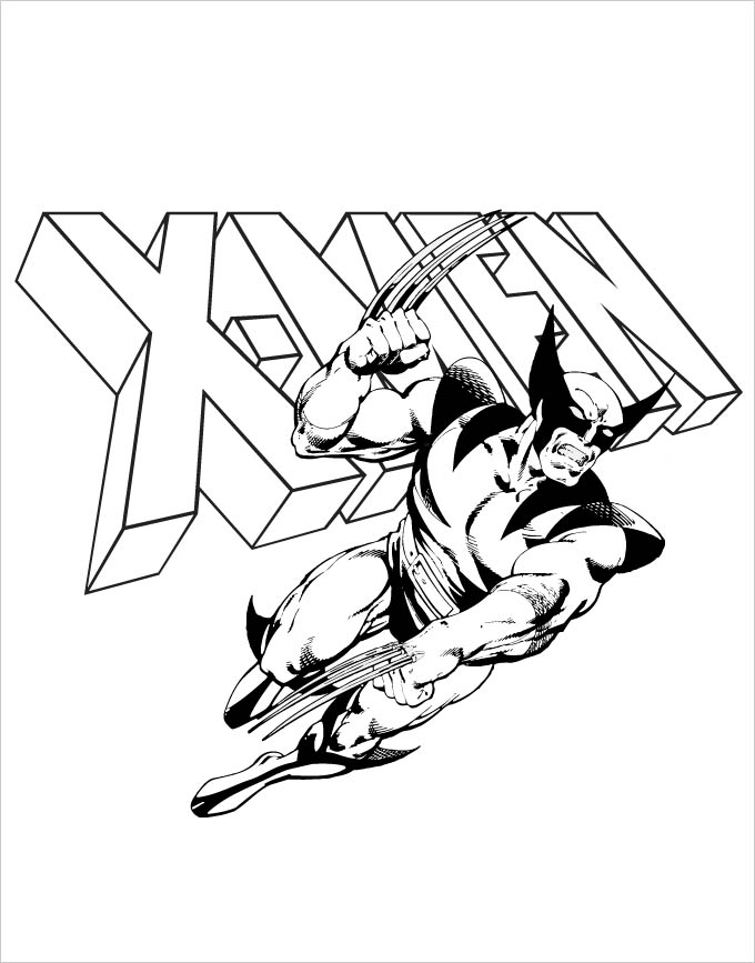 x men coloring pages - superhero coloring page