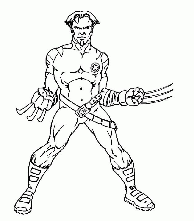 x men coloring pages - x men