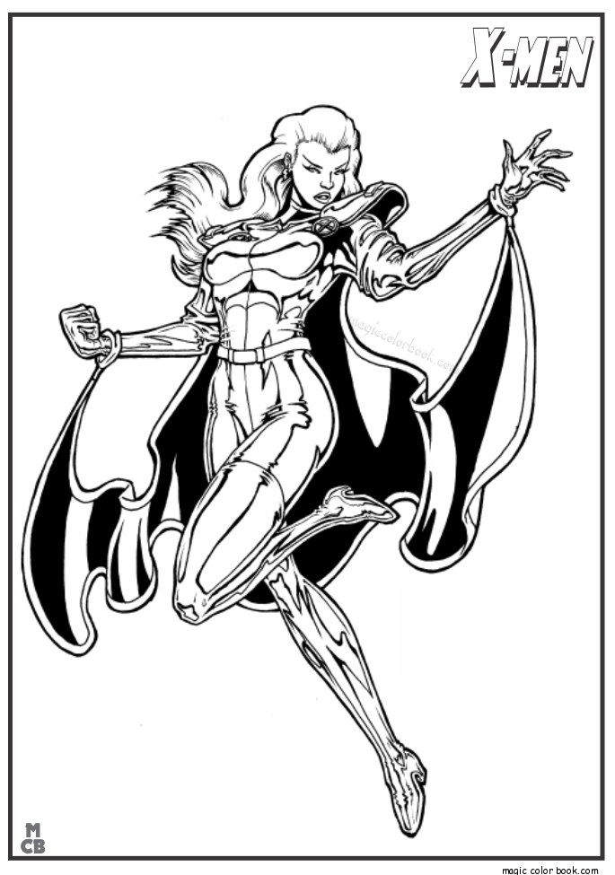 x men coloring pages - x men coloring pages free printable 12