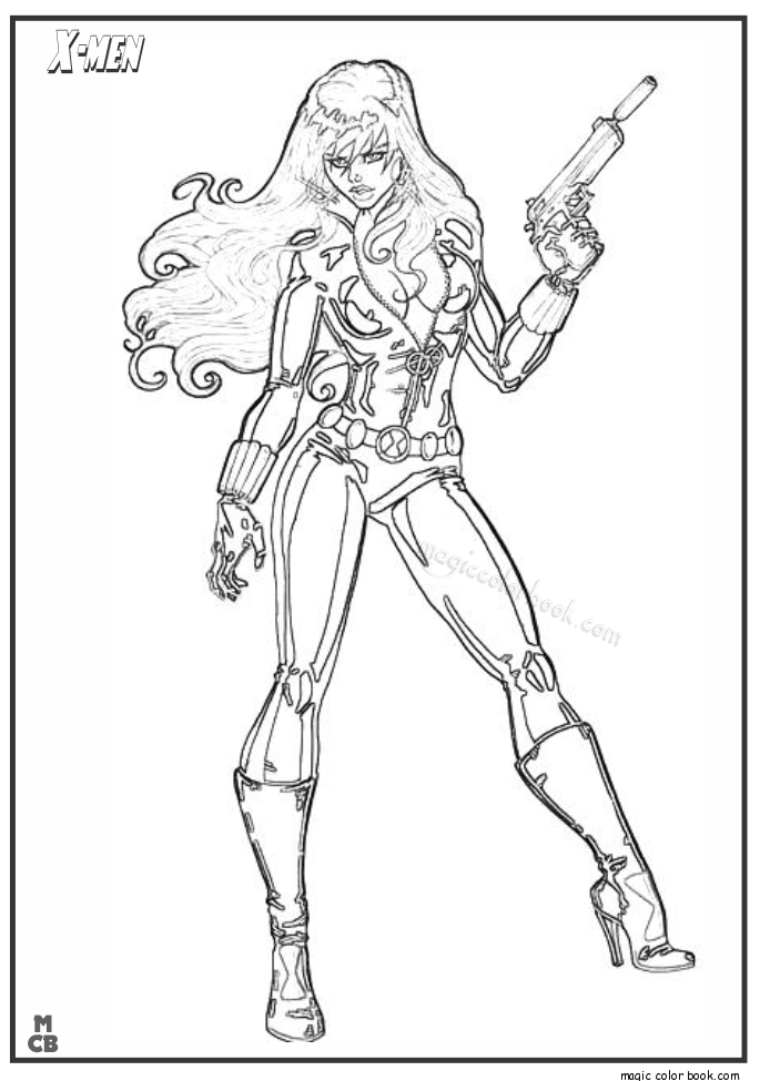 x men coloring pages - x men free printable coloring pages 08
