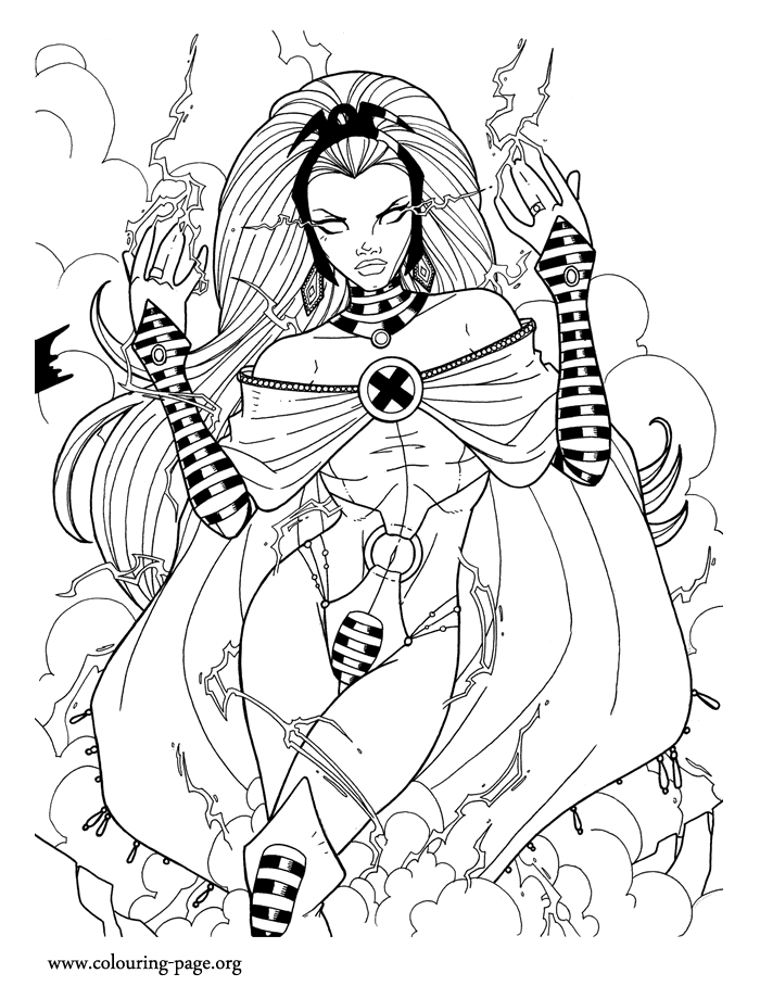 x men coloring pages - 1234 storm coloring page