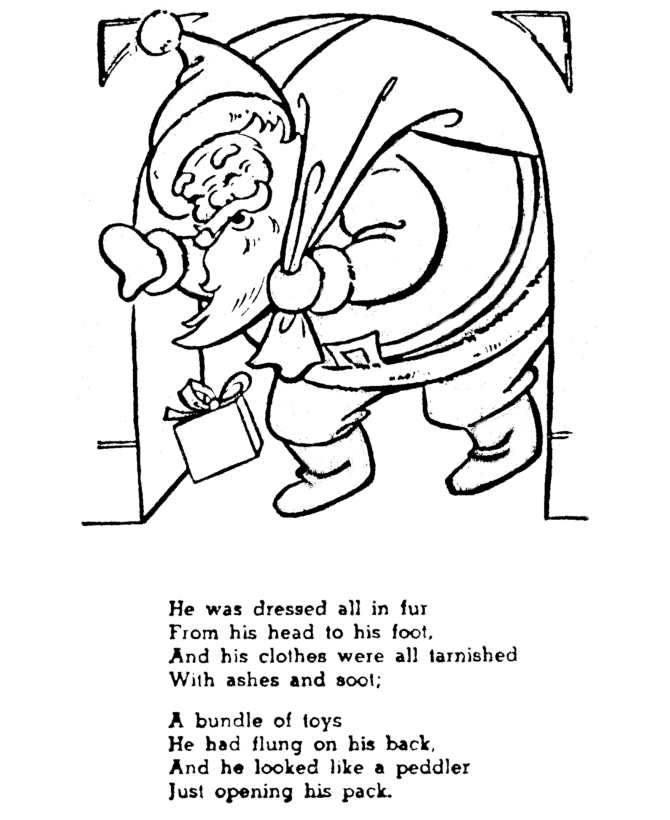 xmas coloring pages - christmas story coloring pages