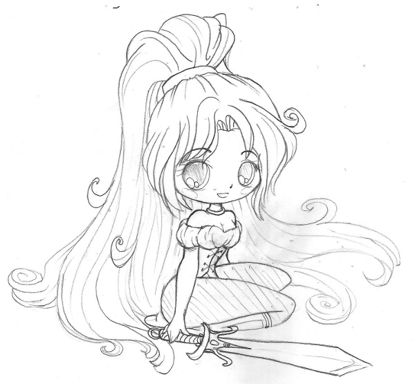 Yampuff Coloring Pages - Shannah Chibi Mish Sketch by Yampuff On Deviantart
