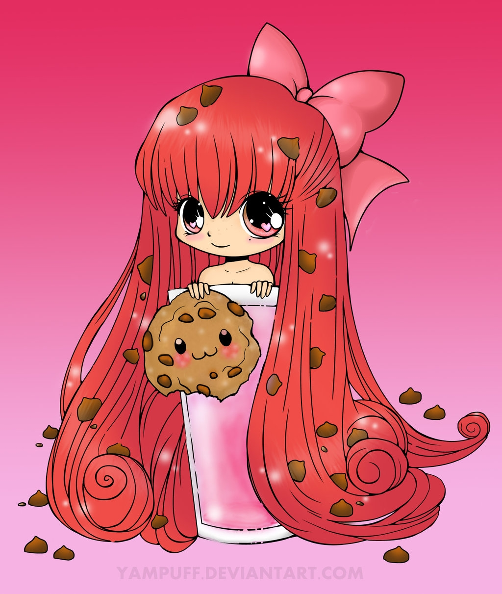 yampuff coloring pages - YamPuff Chibi Cookie Coloring
