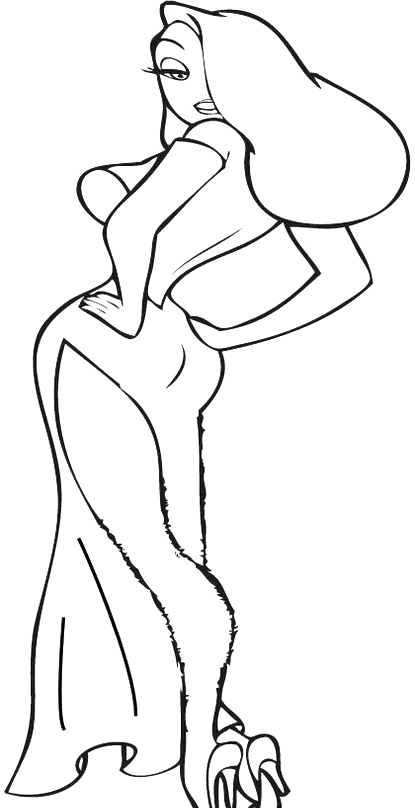 year of the rooster coloring page - jessica rabbit 003