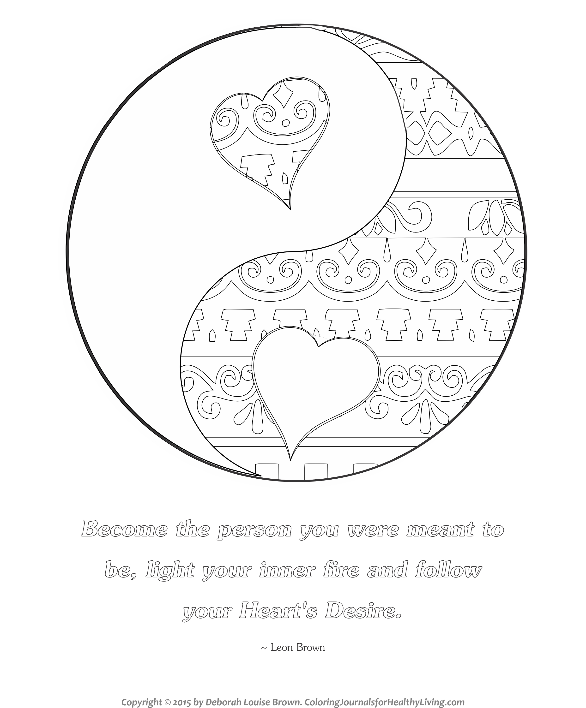 yin yang coloring pages - yin yang boho coloring book sketch templates