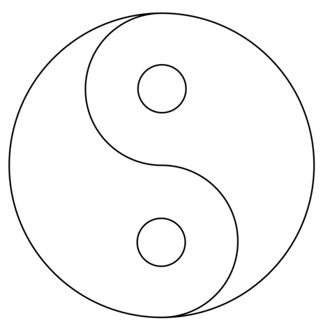 21 yin yang coloring pages images free coloring pages for Ying yang coloring pages