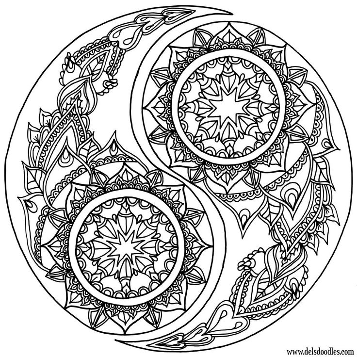 yin yang coloring pages -