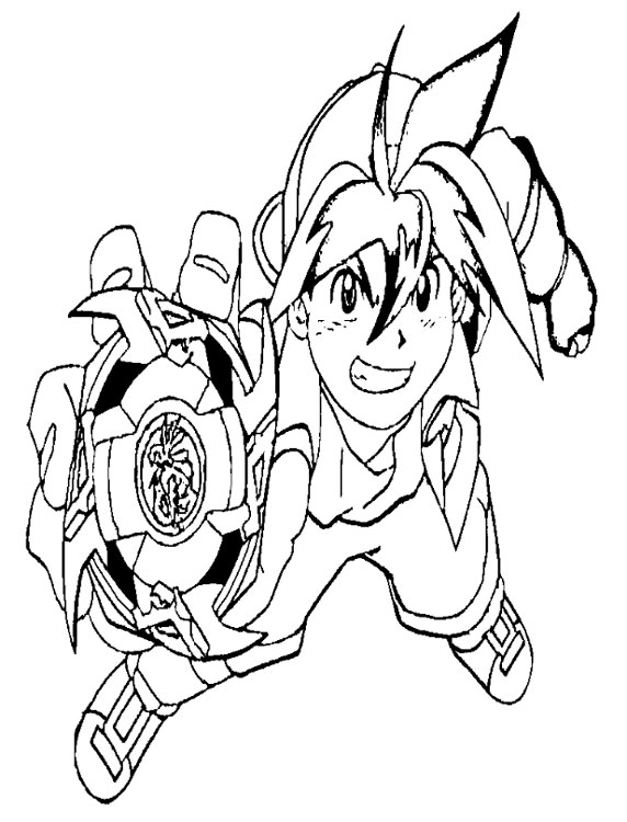 yo gabba gabba coloring pages - coloriage beyblade