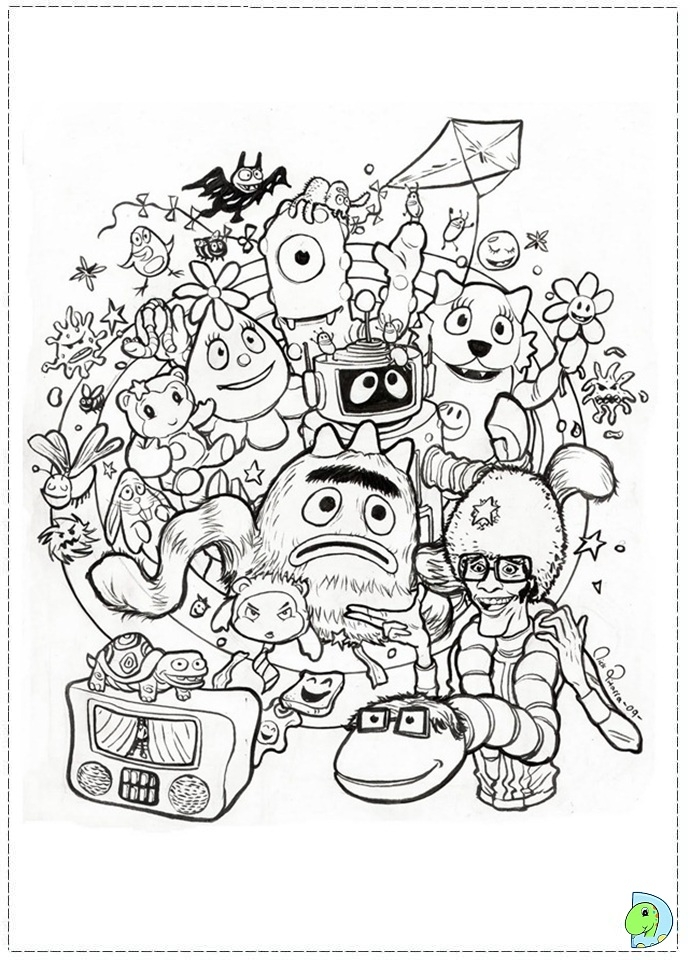 yo gabba gabba coloring pages - 047 coloring yoGabbaGabba 02