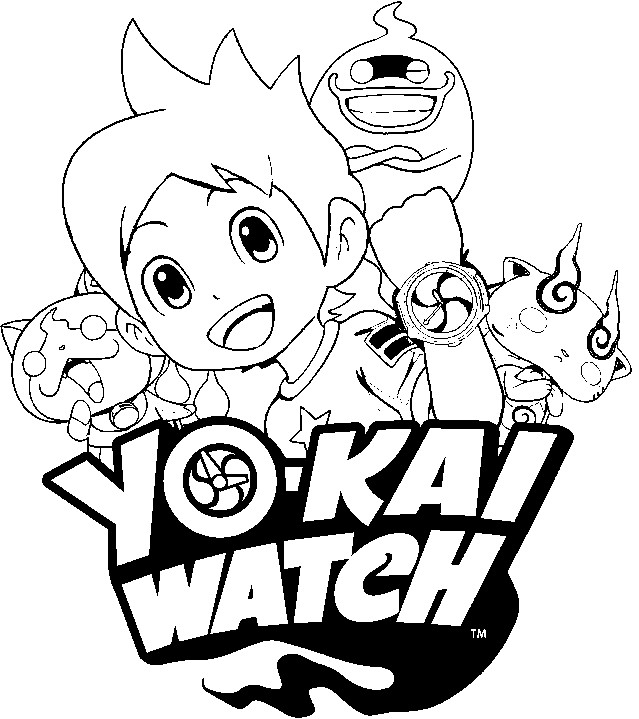 yo kai coloring pages - coloring pages yo kai medals sketch templates
