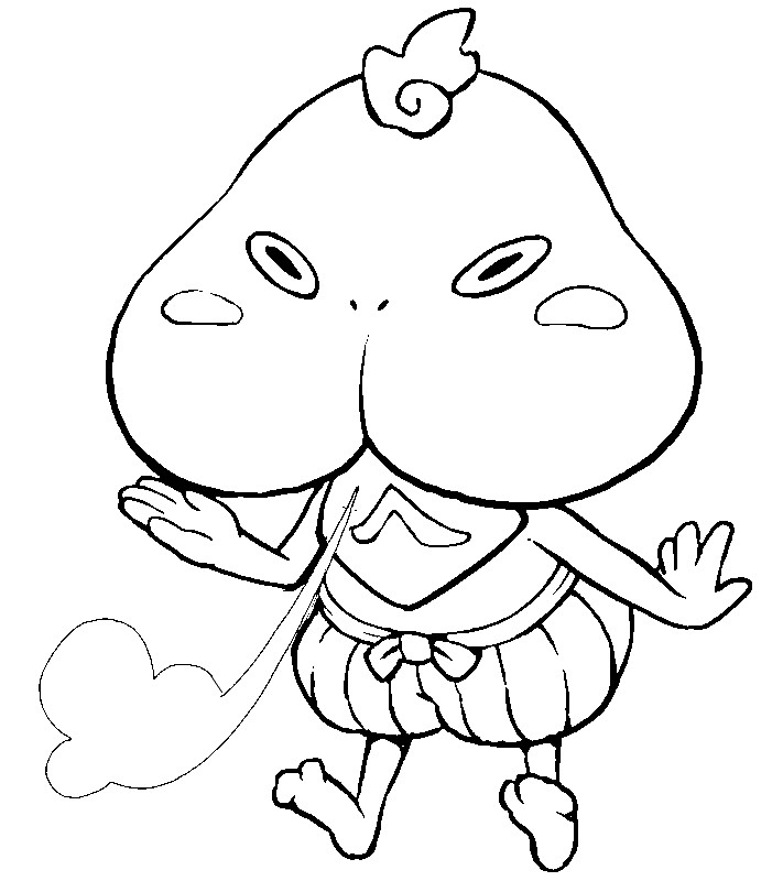 yo kai coloring pages - wazzat yo kai watch coloring pages sketch templates